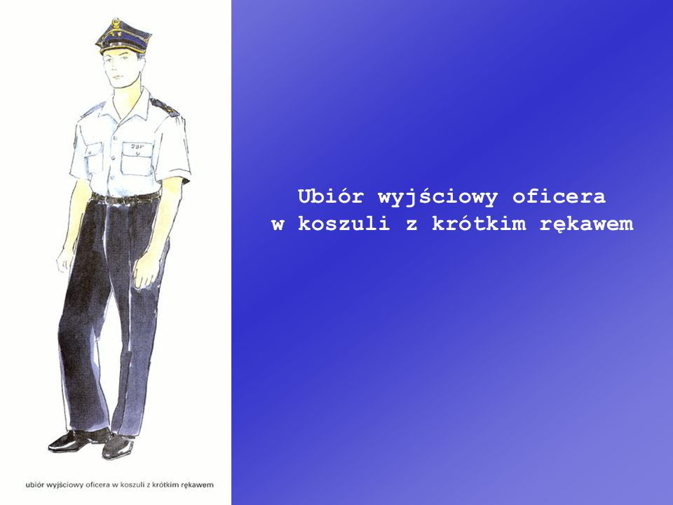 Ubiór wyjściowy oficera w koszuli z krótkim rękawem