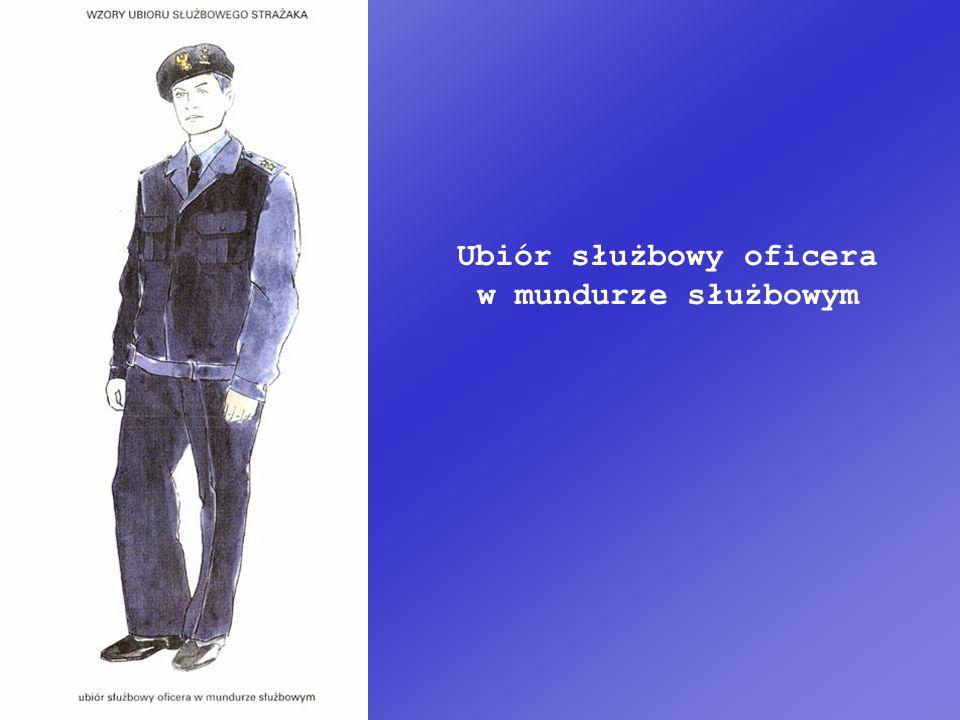 Ubiór służbowy oficera w mundurze służbowym
