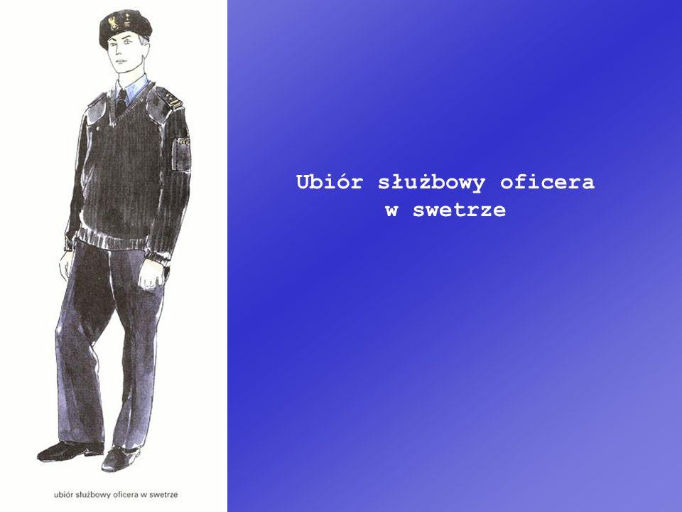 Ubiór służbowy oficera w swetrze