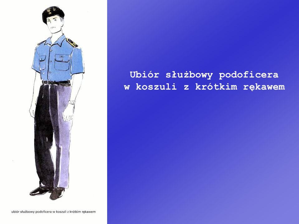 Ubiór służbowy podoficera w koszuli z krótkim rękawem