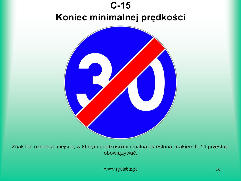 Koniec minimalnej prędkości