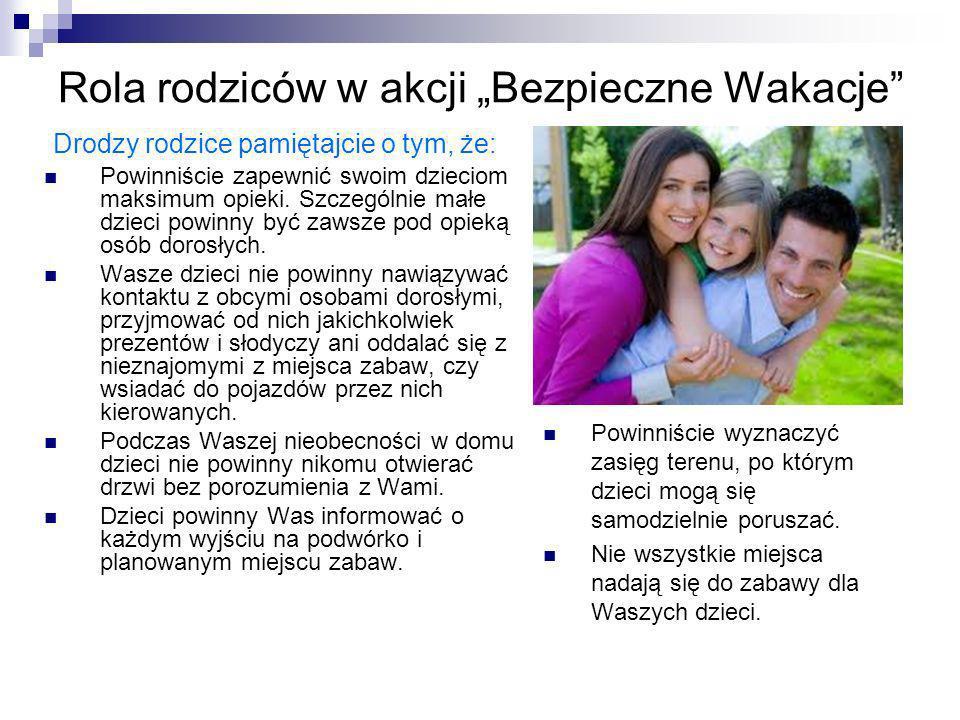 """Rola rodziców w akcji """"Bezpieczne Wakacje"""