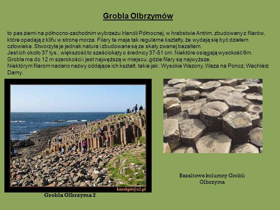 Bazaltowe kolumny Grobli Olbrzyma