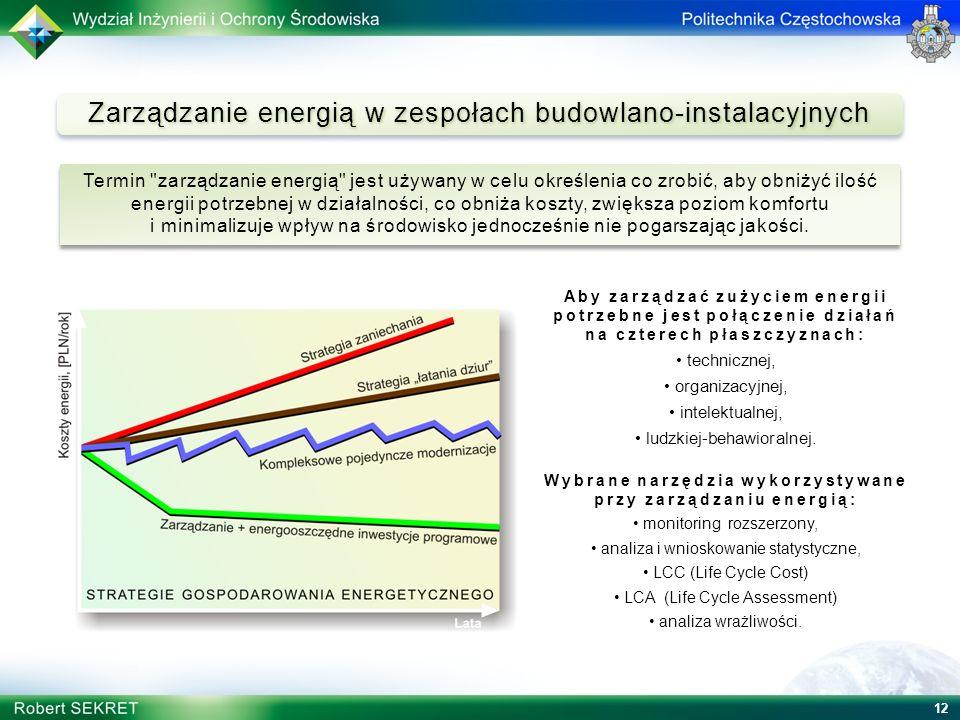 Zarządzanie energią w zespołach budowlano-instalacyjnych