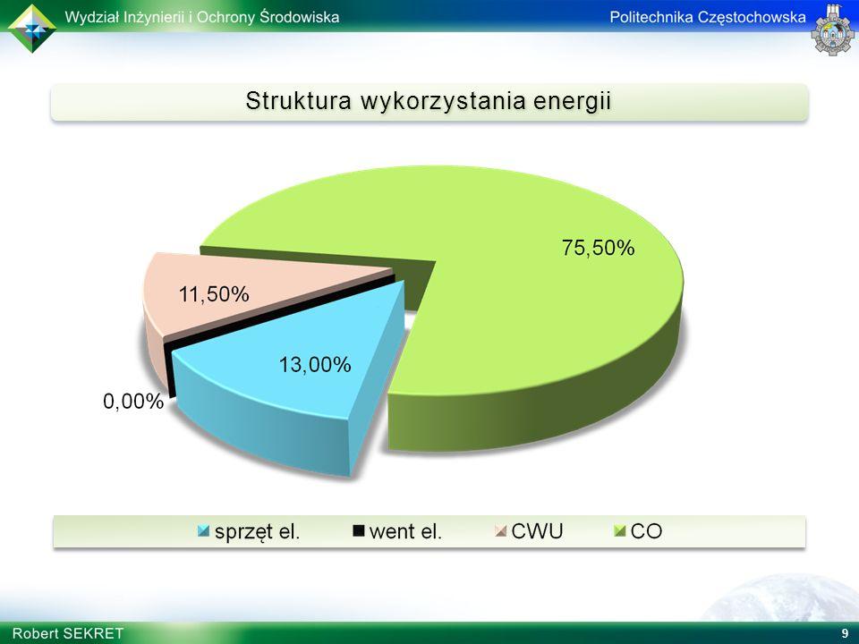 Struktura wykorzystania energii