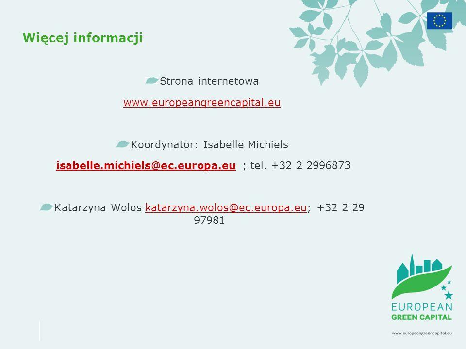 Więcej informacji Strona internetowa www.europeangreencapital.eu