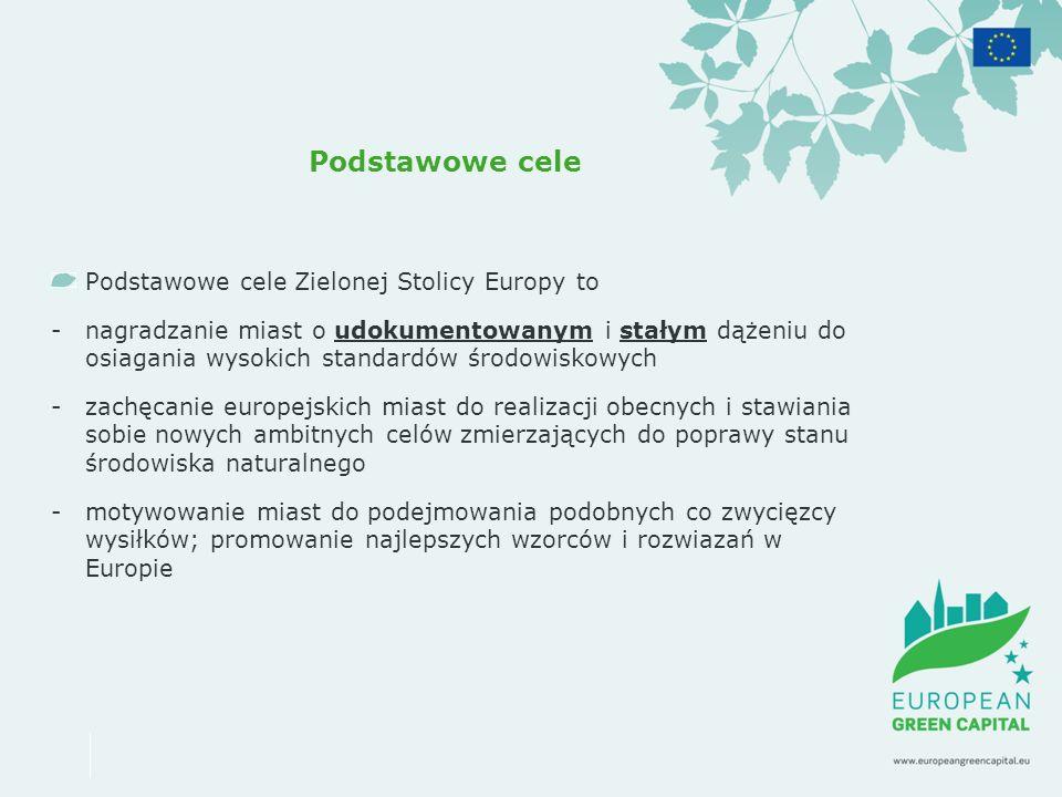 Podstawowe cele Podstawowe cele Zielonej Stolicy Europy to