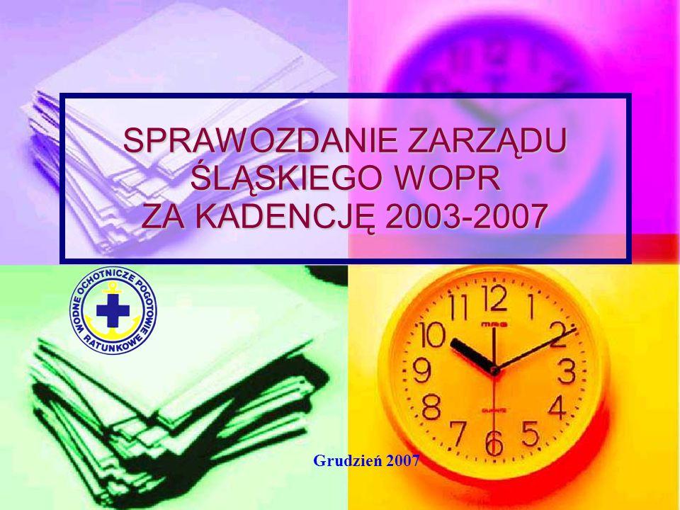 SPRAWOZDANIE ZARZĄDU ŚLĄSKIEGO WOPR ZA KADENCJĘ 2003-2007