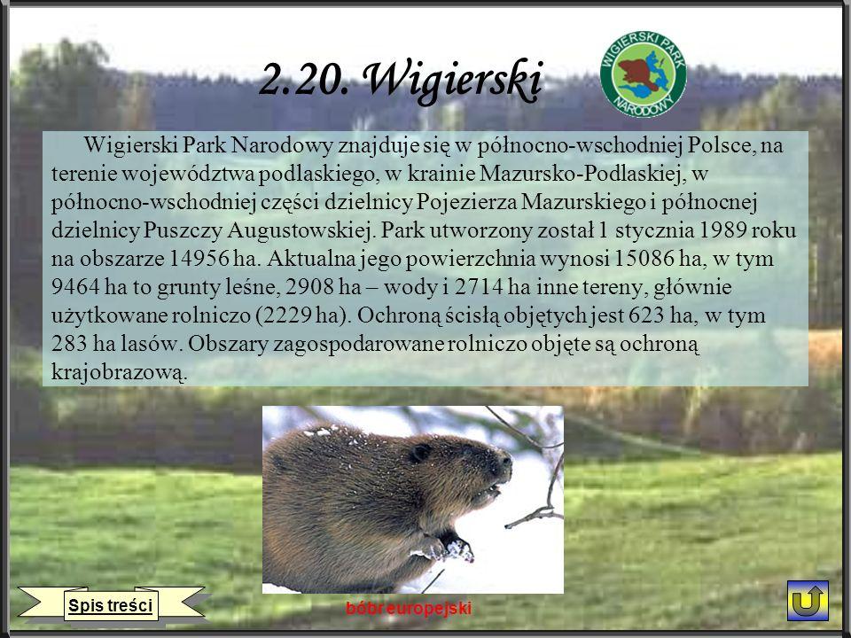2.20. Wigierski Wigierski Park Narodowy znajduje się w północno-wschodniej Polsce, na.