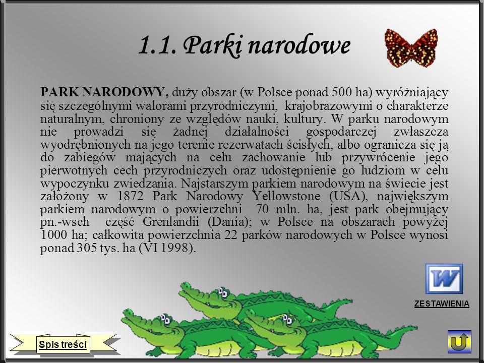 1.1. Parki narodowe