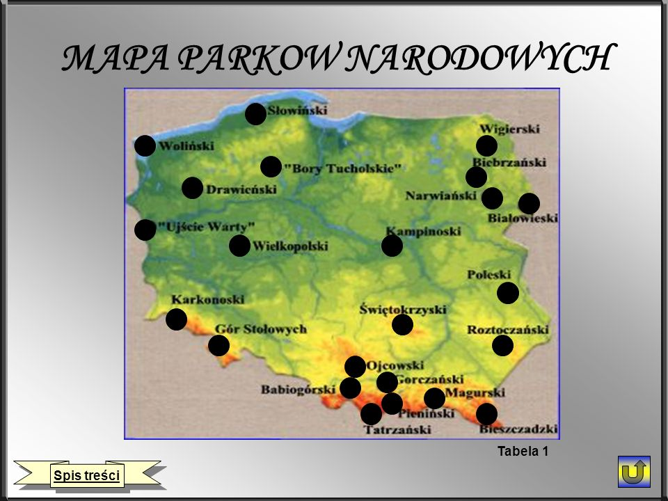MAPA PARKOW NARODOWYCH