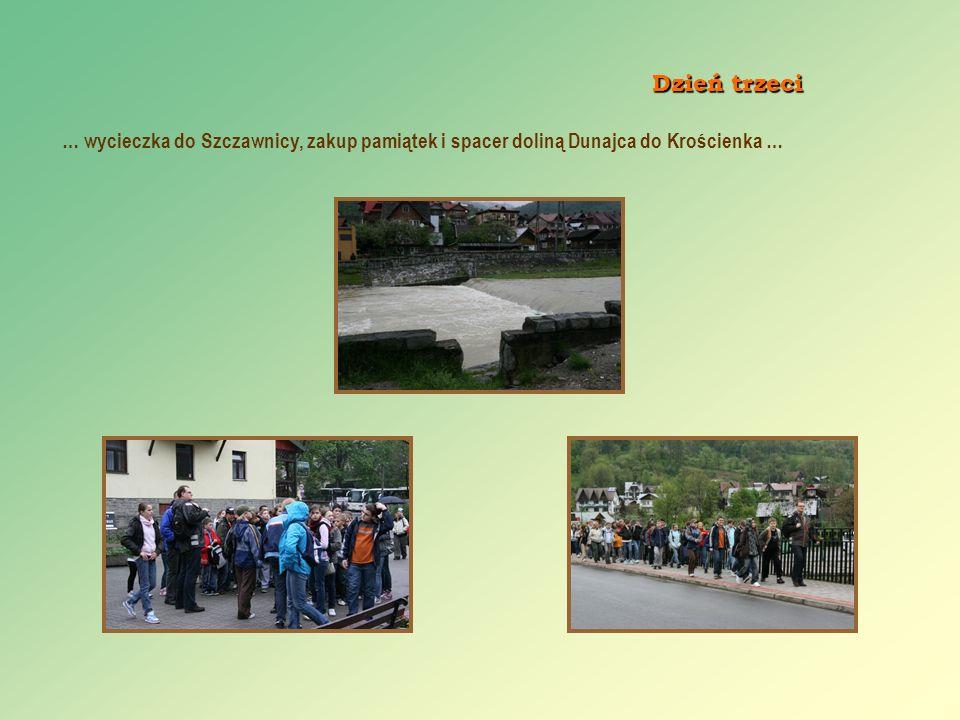 Dzień trzeci … wycieczka do Szczawnicy, zakup pamiątek i spacer doliną Dunajca do Krościenka …