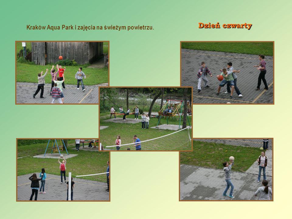 Dzień czwarty Kraków Aqua Park i zajęcia na świeżym powietrzu.