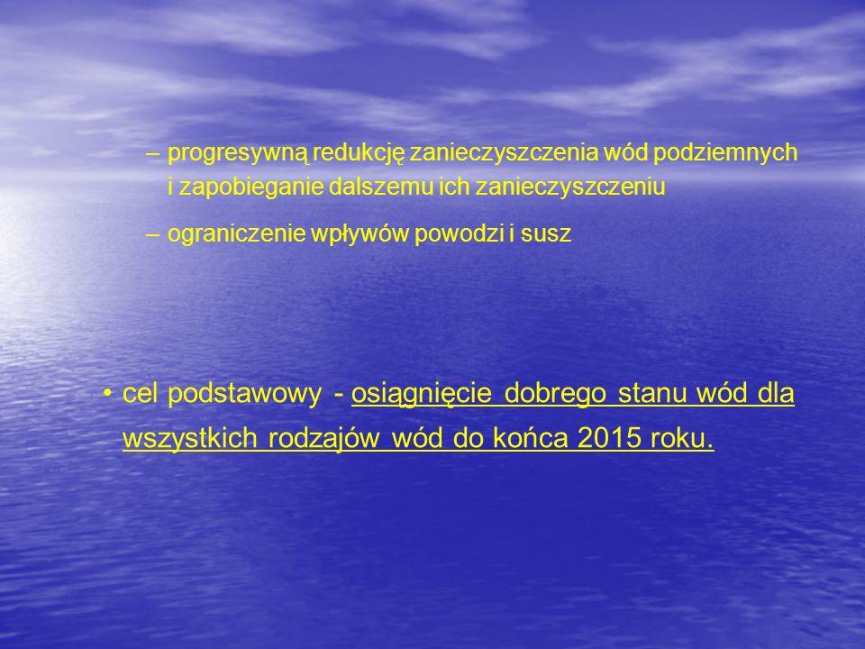 progresywną redukcję zanieczyszczenia wód podziemnych i zapobieganie dalszemu ich zanieczyszczeniu