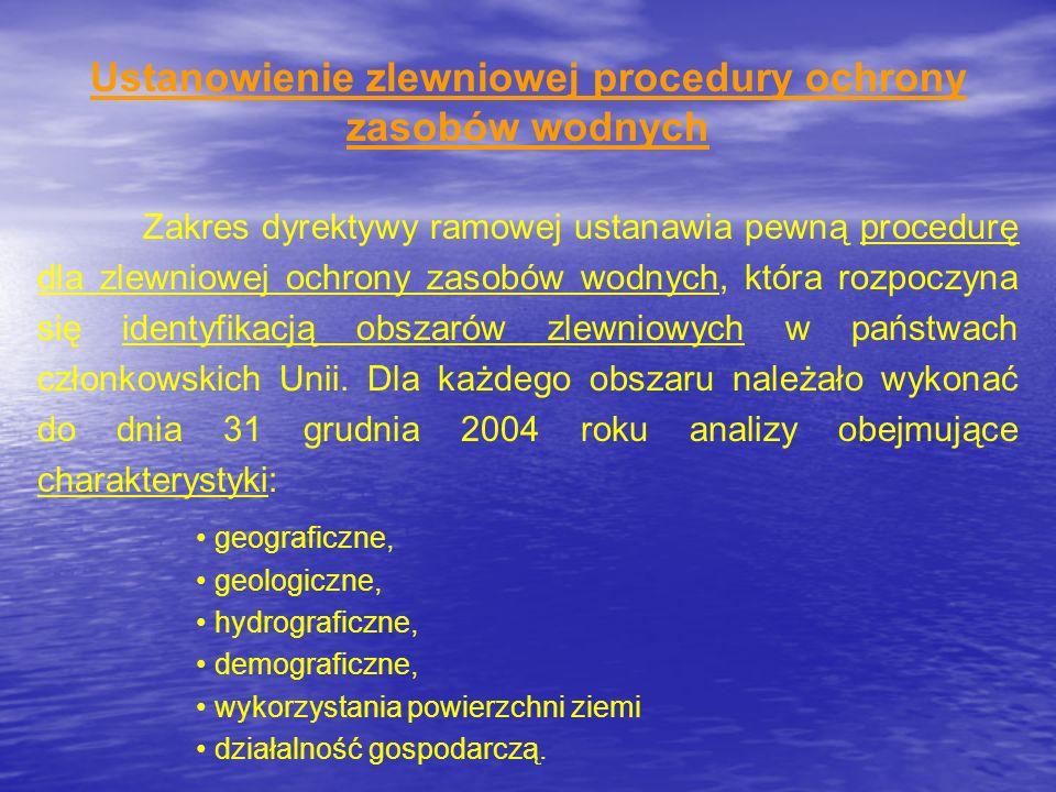 Ustanowienie zlewniowej procedury ochrony zasobów wodnych