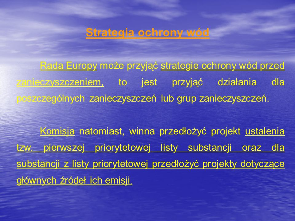 Strategia ochrony wód