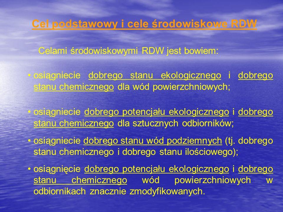 Cel podstawowy i cele środowiskowe RDW