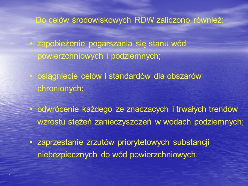 Do celów środowiskowych RDW zaliczono również: