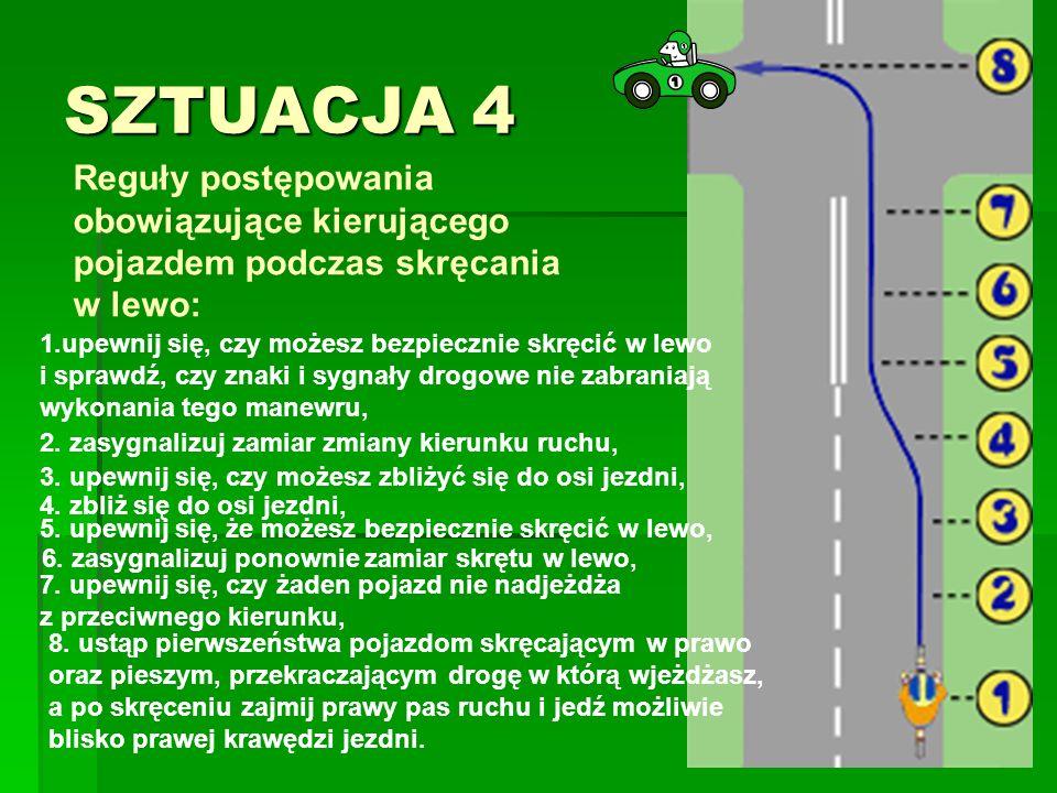 SZTUACJA 4 Reguły postępowania obowiązujące kierującego