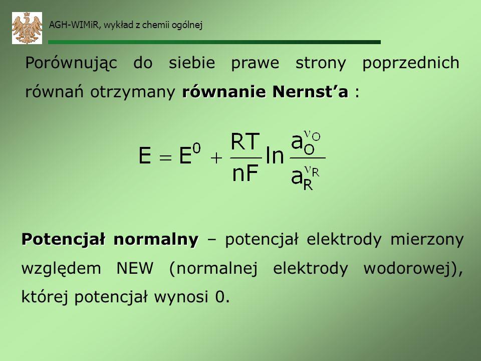 AGH-WIMiR, wykład z chemii ogólnej