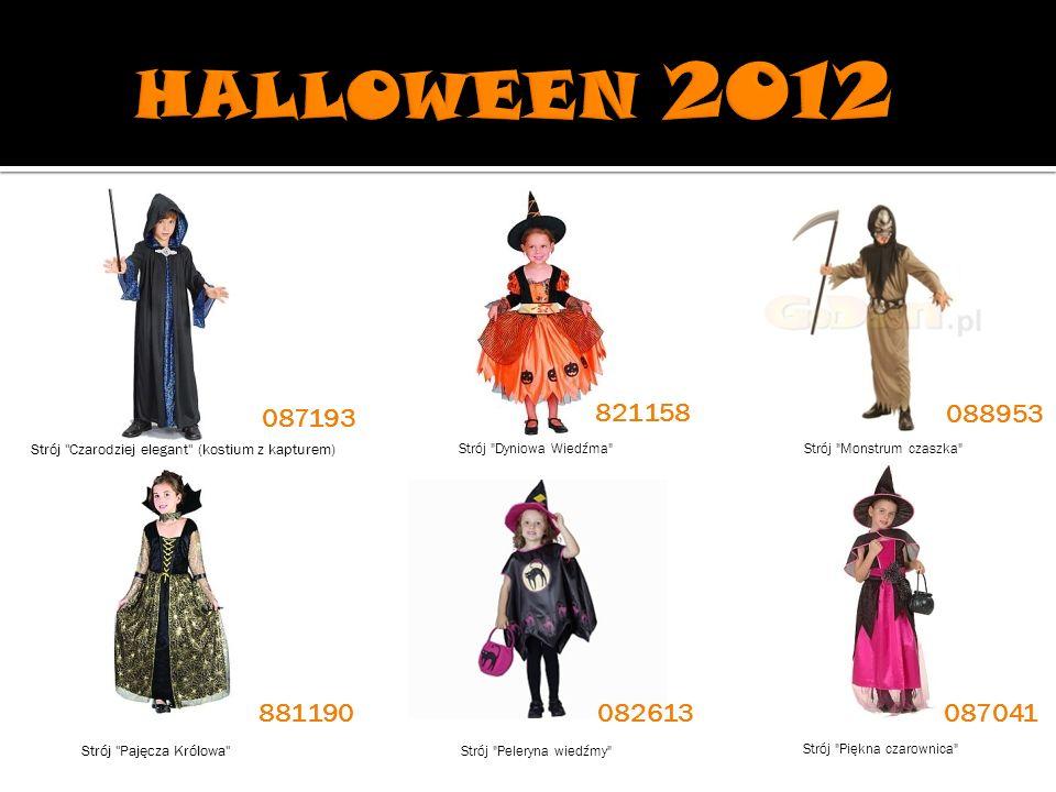 HALLOWEEN 2012 087193. 821158. 088953. Strój Czarodziej elegant (kostium z kapturem) Strój Dyniowa Wiedźma