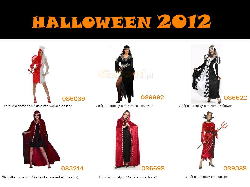 HALLOWEEN 2012 086039. 089992. 086622. Strój dla dorosłych Biało-czerwona diablica Strój dla dorosłych Czarna cesarzowa