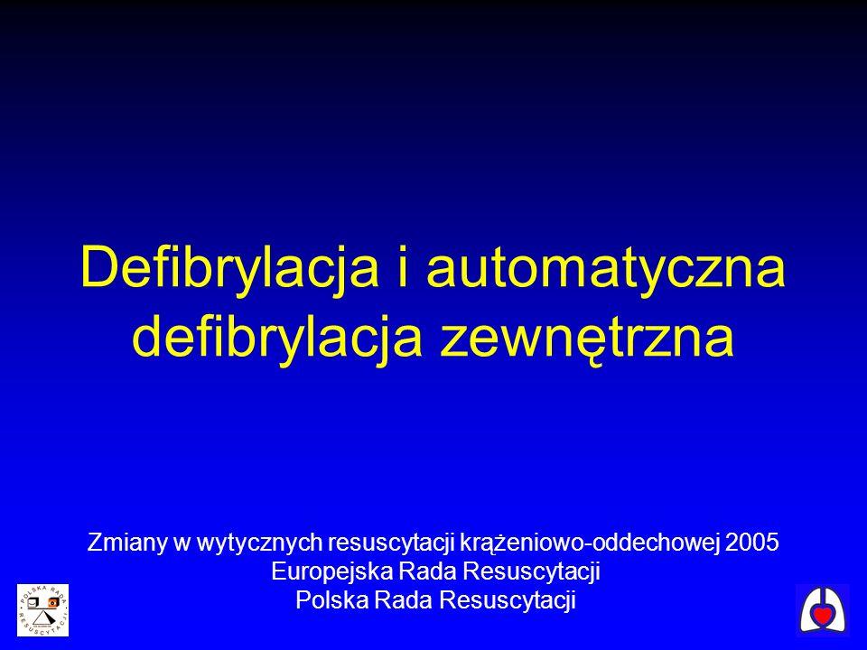 Defibrylacja i automatyczna defibrylacja zewnętrzna
