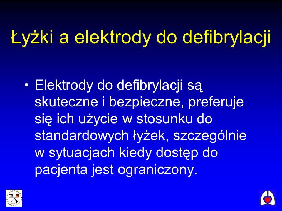 Łyżki a elektrody do defibrylacji
