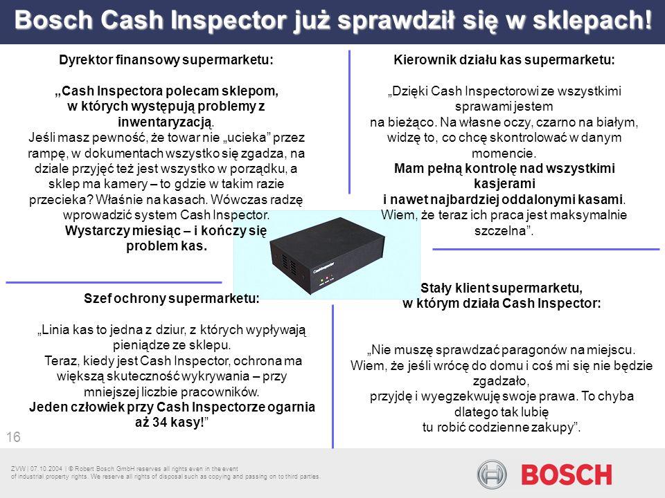 Bosch Cash Inspector już sprawdził się w sklepach!