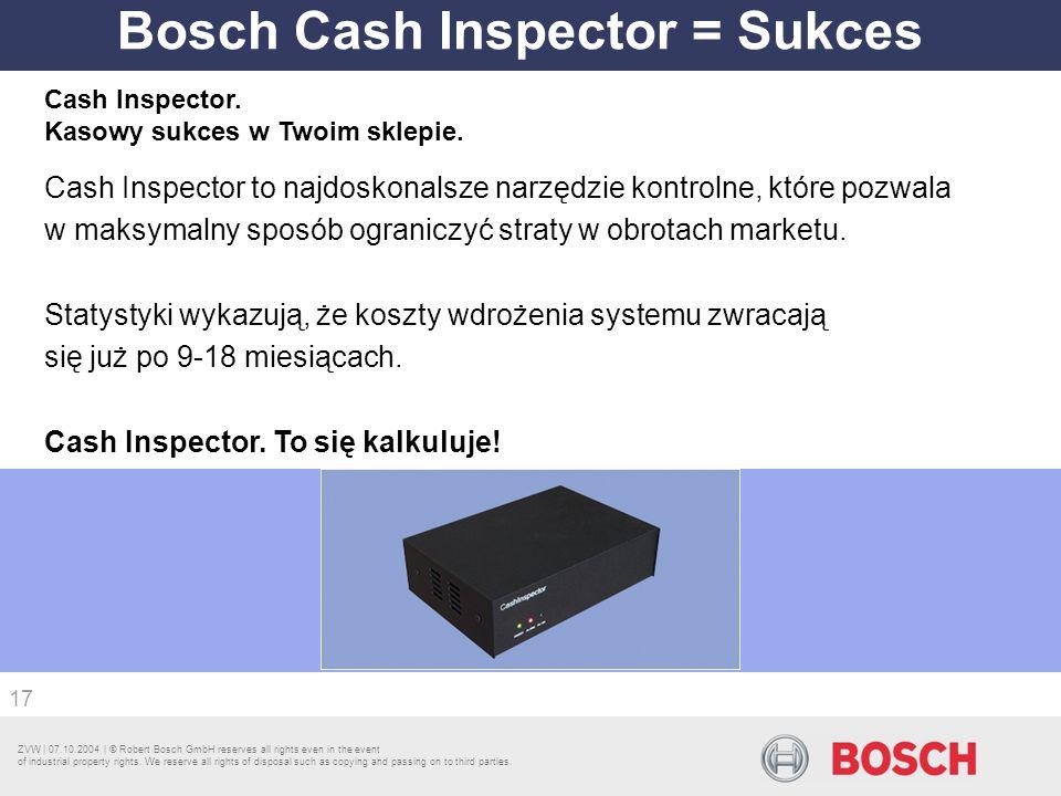 Bosch Cash Inspector = Sukces