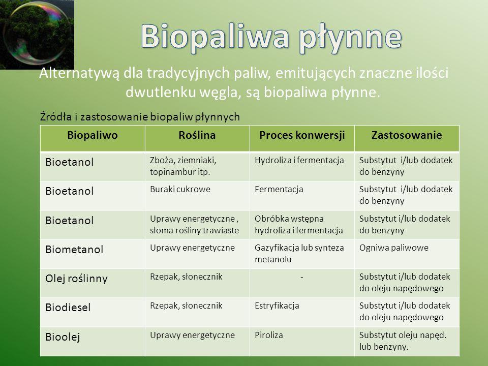 Biopaliwa płynne