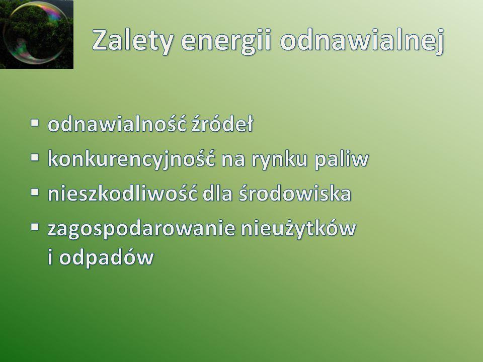 Zalety energii odnawialnej