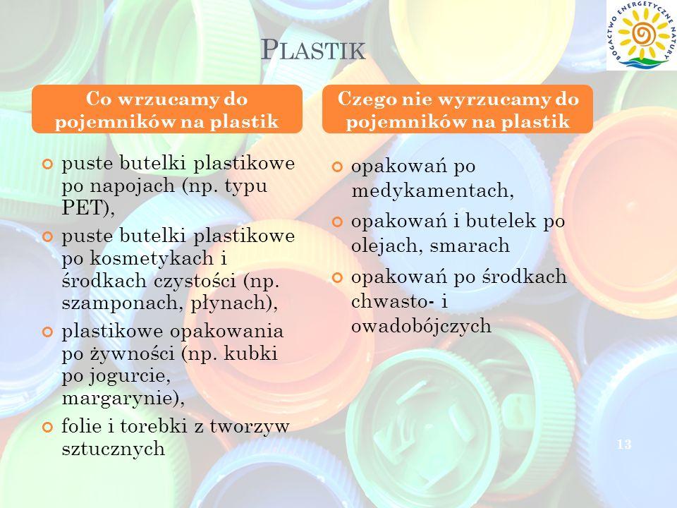 Plastik puste butelki plastikowe po napojach (np. typu PET),