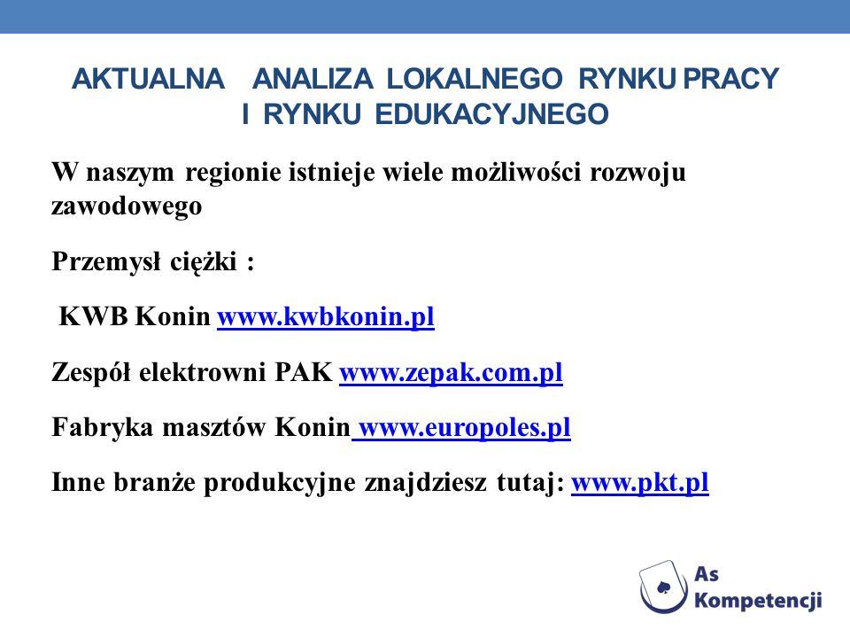 aktualna analiza lokalnego rynku pracy i rynku edukacyjnego