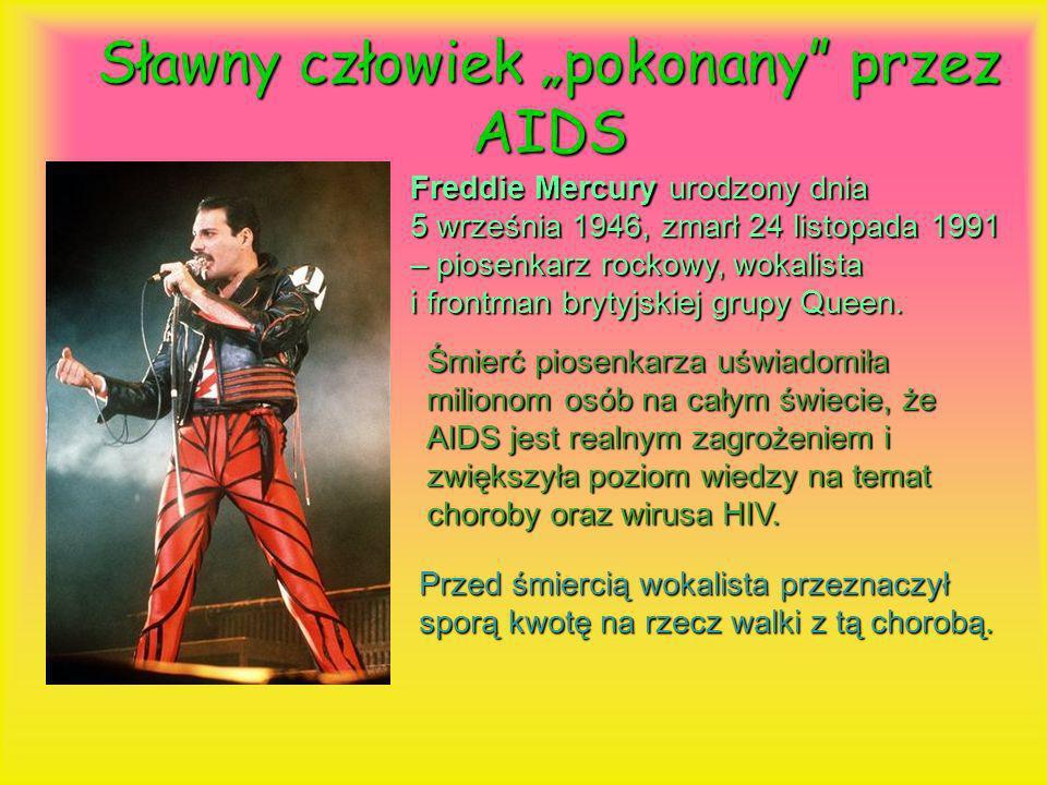 """Sławny człowiek """"pokonany przez AIDS"""