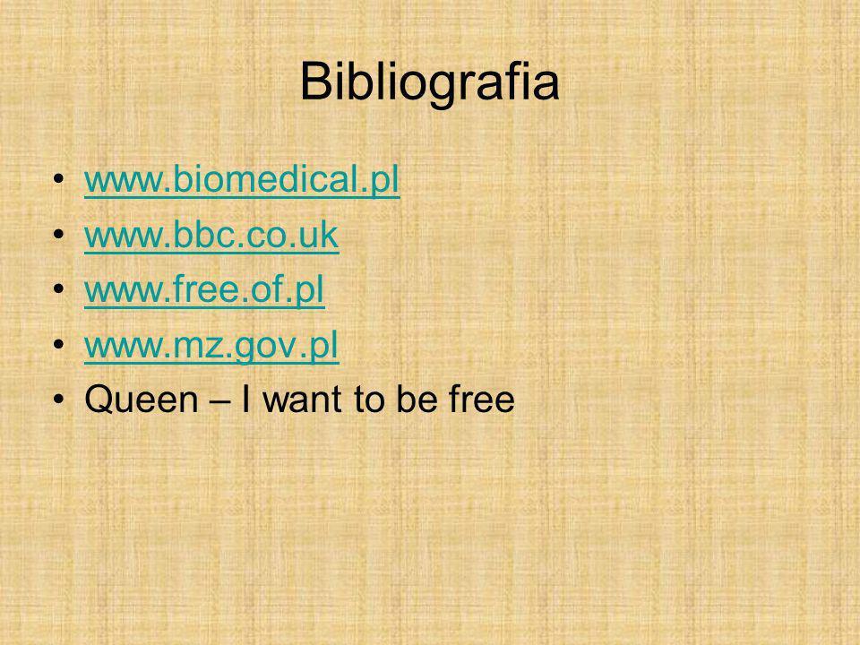 Bibliografia www.biomedical.pl www.bbc.co.uk www.free.of.pl