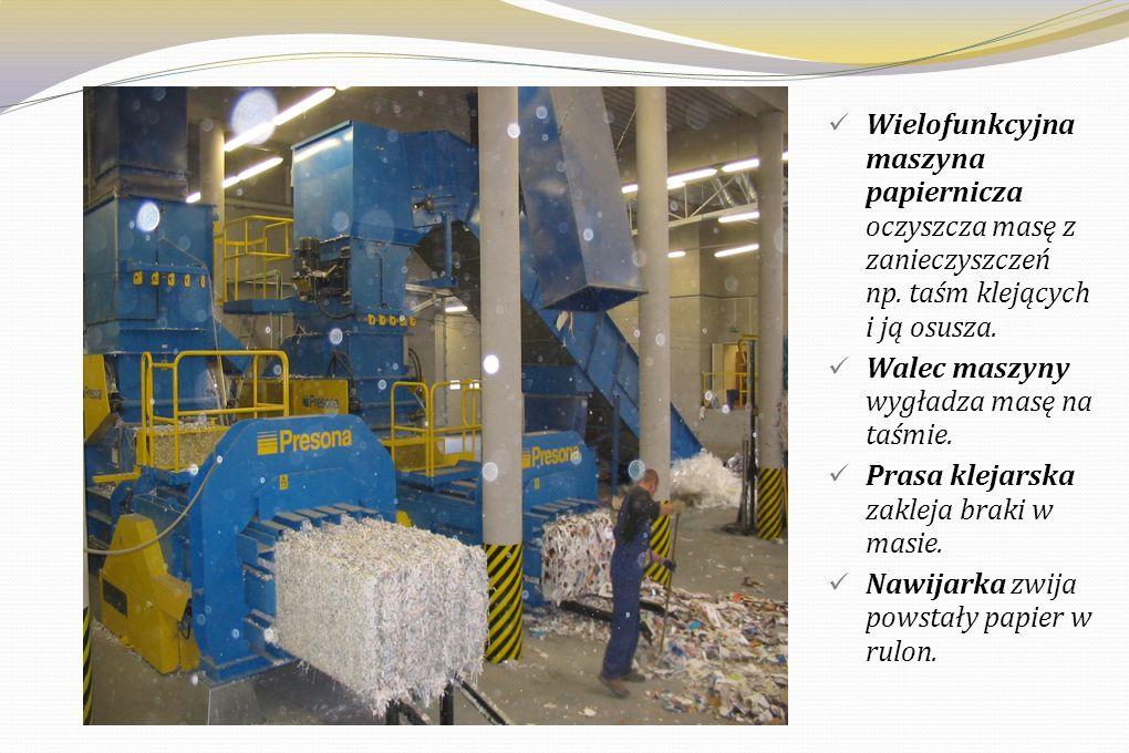 Wielofunkcyjna maszyna papiernicza oczyszcza masę z zanieczyszczeń np