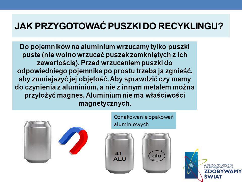 Jak przygotować puszki do recyklingu