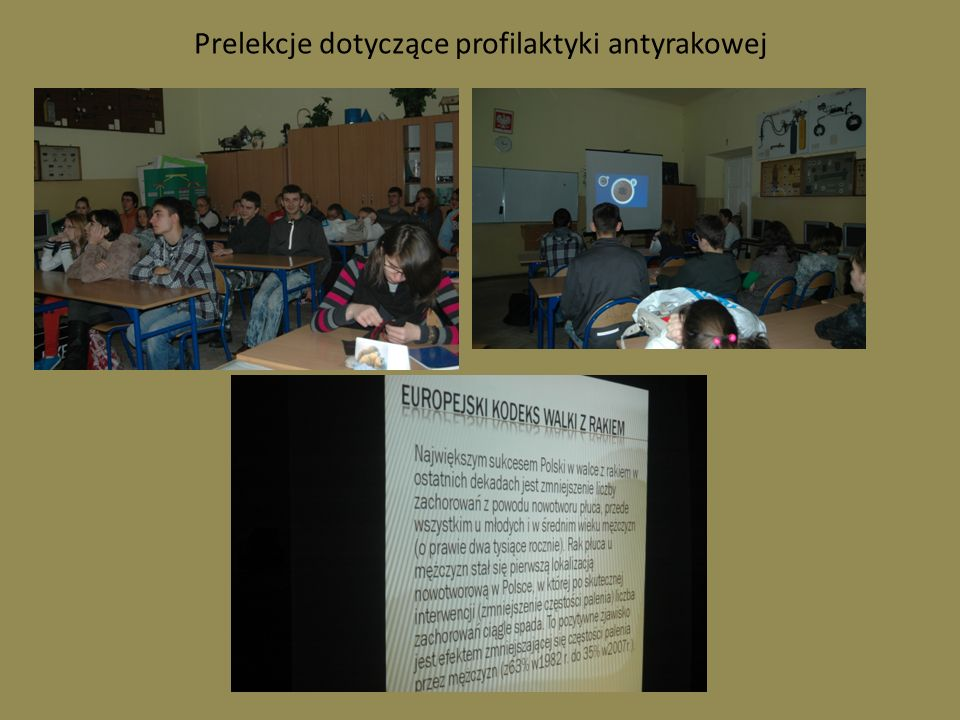 Prelekcje dotyczące profilaktyki antyrakowej