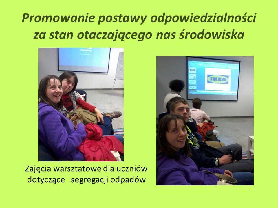 Zajęcia warsztatowe dla uczniów dotyczące segregacji odpadów