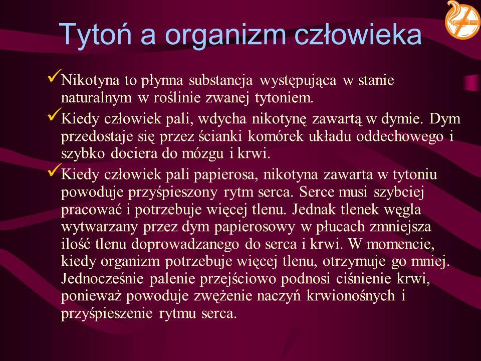 Tytoń a organizm człowieka