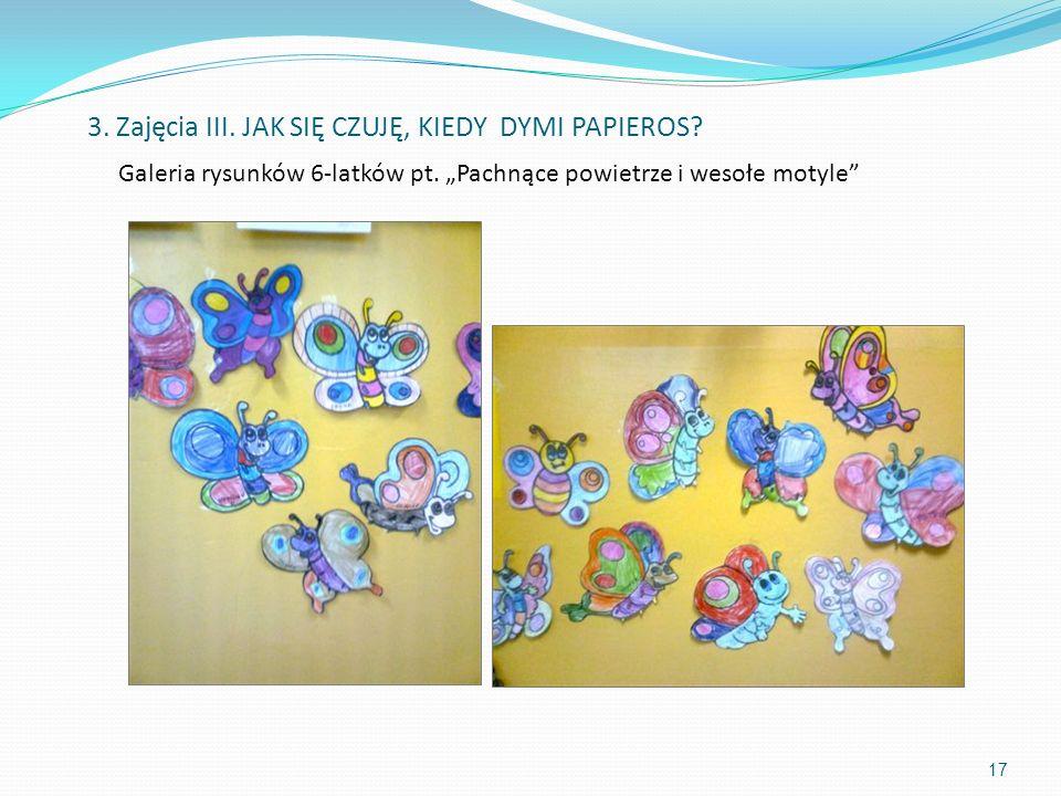 """Galeria rysunków 6-latków pt. """"Pachnące powietrze i wesołe motyle"""