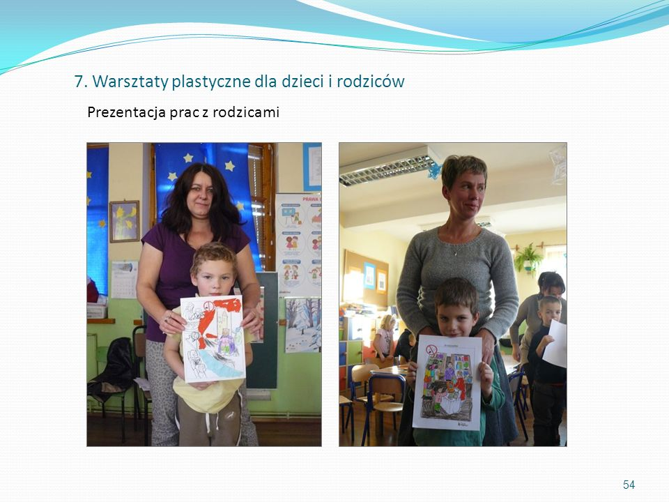 Prezentacja prac z rodzicami