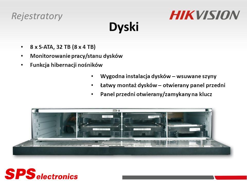 Dyski Rejestratory 8 x S-ATA, 32 TB (8 x 4 TB)