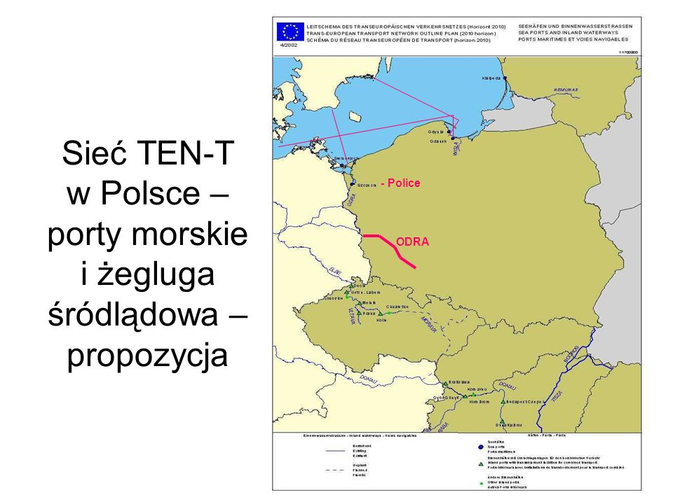 Sieć TEN-T w Polsce – porty morskie i żegluga śródlądowa – propozycja