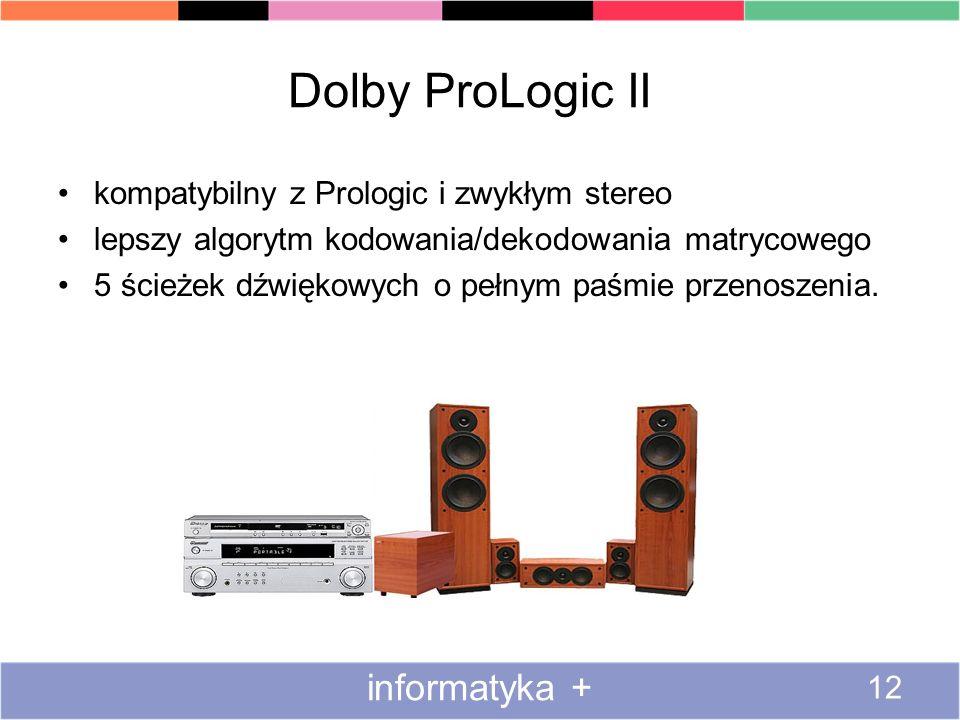 Dolby ProLogic II informatyka +