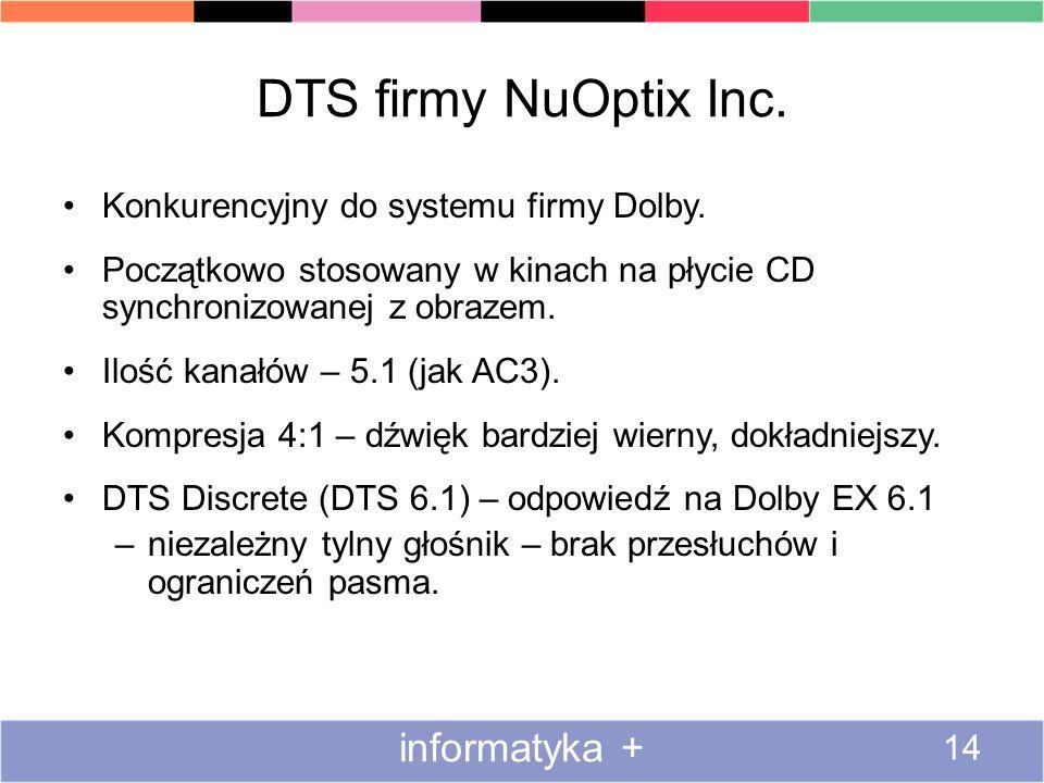 DTS firmy NuOptix Inc. informatyka +