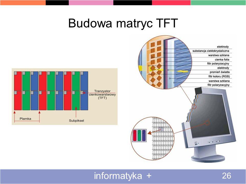 Budowa matryc TFT informatyka +