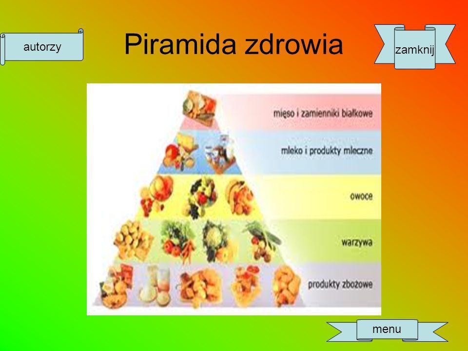 Piramida zdrowia zamknij autorzy menu