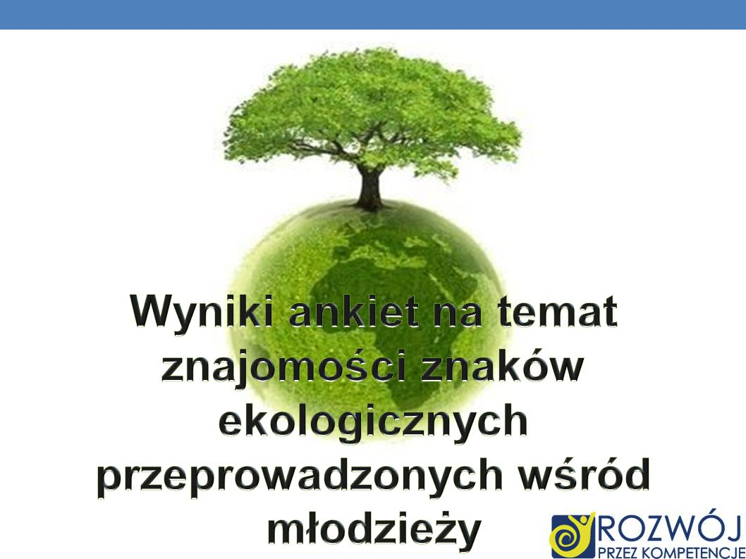Wyniki ankiet na temat znajomości znaków ekologicznych przeprowadzonych wśród młodzieży
